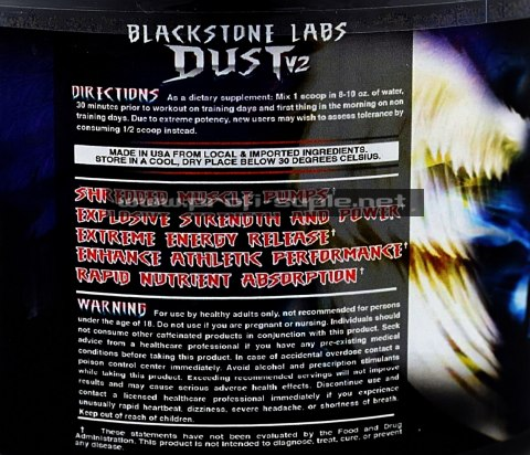DUST v2 300g Blackstone Labs Pre Workout